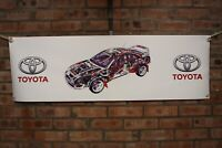 Toyota Celica GT4 ST205 RALLY large pvc  WORK SHOP BANNER garage  SHOW BANNER