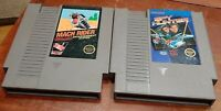 Nintendo NES Mach Rider & Spy Hunter loose carts, cleaned & tested, authentic