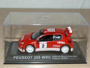 Coche PEUGEOT 206 WRC R. Burns - R. Reid Rally Montecarlo 2003 ixo car 1/43