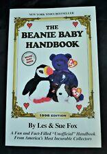 TY The Beanie Baby,Handbook, 1998 Edition, Les Sue Fox, Collectible Toys Book