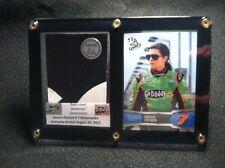 Danica Patrick Card Display & Race Used Metal from Actual Race Car at Bristol!