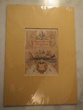 Kommersbuch - Titelseite von 1861 mit Passepartout / Studentika