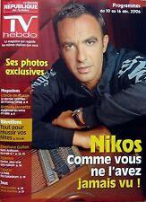 TV HEBDO 2006: NIKOS ALIAGAS_STEPHANE GUILLON_DENIS PODALYDES