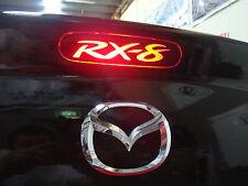Mazda RX 8 rear brake light sticker / decal  black color x 2