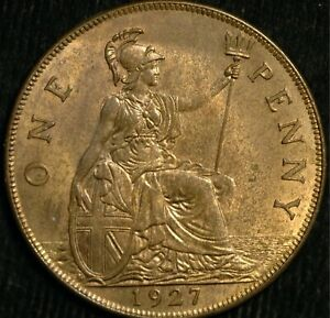Penny George V 1927 UNC (T88)