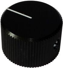 Bouton de potentiomètre pour axe lisse 6mm Ø24x15mm en aluminium Couleur: noir