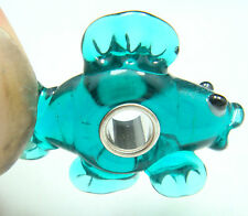1pcs SILVER MURANO GLASS BEAD LAMPWORK Animal fit European Charm Bracelet by6