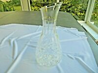 "Handcrafted Crystal 11"" Tall Open Carafe made in Yugoslavia"