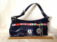 Disney Epcot Handbag Mickey Face Flags of the World Purse Bag 1 Mouse 1 World