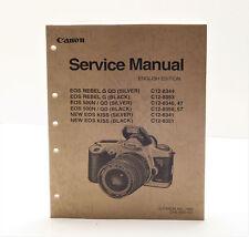Original Canon Service Manual / Eos Rebel G Qd, Rebel G, Eos 500N Qd, Eos Kiss