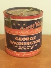 Vintage Advertising George Washington Tobacco w/ RARE Paper Father's Day Label