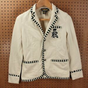 Rugby Ralph Lauren jacket blazer SMALL embroidered schoolboy rowing preppy