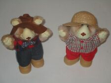 "Xavier Roberts 1986 Wendy's Collection 7"" Furskins Bears Plush Stuffed Animal"