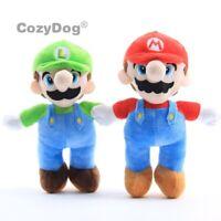Super Mario Bros Plush Doll Mario Luigi Soft Toy Stuffed Animal Teddy 10'' Gift
