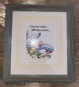 1980's Pooh Bear Framed/Mounted Print Every bear needs a little help sometimes.