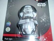 PhilipS LED STAR WARS TROOPER FLASH LIGHT Torch Night Light BLACK/WHITE (NEW)