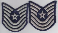 OBSOLETE US AIR FORCE RANK PATCH LOT CHEVRONS GENUINE USGI PAIR M/SGT
