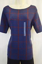 New ANN TAYLOR Womens Navy Blouse Top Shirt Sz XL