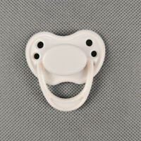 White Dummy Magnetic Pacifier for Reborn Baby Dolls Internal Magnet Accessories