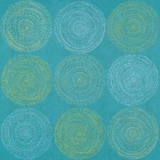 Arc com Cosmos Atlantic Aqua modern contemporary circles Vinyl Upholstery Fabric