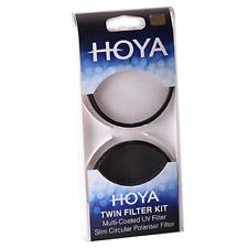 Hoya 49mm HMC UV Filter & Slim Circular Polariser Filter Twin Kit