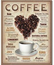 Coffee Lovers Metal Sign Restaurant Kitchen Java Cappuccino Home Wall Decor Gift