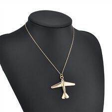 Womens Fashion Plane Bib Pendant Chain Choker Chunky Statement Necklace Jewelry