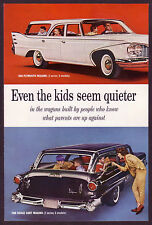 1960 Vintage Chrysler Plymouth, Dodge Dart, Valiant Station Wagon Photo Print AD