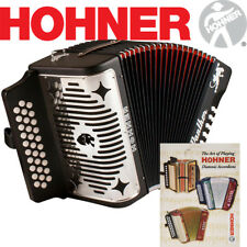 NEW Hohner Panther FBE Fa 31 Button Diatonic Accordion + Straps and Lesson Book