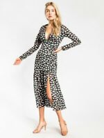 The East Order KALANI LONG SLEEVE MIDI DRESS IN FORAL PRINT,BNWT, Sz S, RRP $189