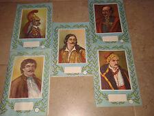 "Amazing rare  vintage litho 5 x notebooks "" Liberation Heroes 1821""! New!"