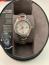 WOMENS CITIZEN WRIST WATCH NEW SILVER AND GOLD