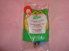 Pin Barbie Figurine W/Stickers Mcdonalds 2000 #2 NIP