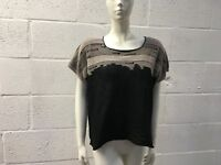 STUNNING DESIGNER CREA CONCEPT LACE TOP 12 BLACK NEW RRP £165