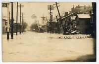 RPPC N Front Street Flood of 1913 HAMILTON OH Vintage Ohio Real Photo Postcard