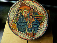 VINTAGE ETHIOPIAN RELIGIOUS AFRICAN HAND PAINTED TRADITIONAL