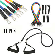 Resistance Band Set 11 PCS Yoga Pilates Abs Exercise Fitness Tube Workout Bands