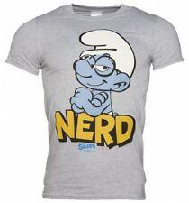 """Les Schtroumpfs """"Nerd"""" Officiel Homme T Shirt Taille: L/Neuf"""