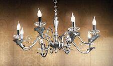 Lampadario classico di design foglia argento cristallo BELL versailles 1803/L8L