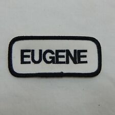 "CUSTOM EMBROIDERED NAME TAG SEW ON PATCH ""EUGENE"""