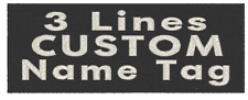 """5"""" x 3"""" ID Name Tag Patch 3 Lines WHITE GLOW IN DARK W/ VELCRO® Brand Fastener"""