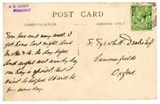 1915 GB postcard with Hooton Roberts / Rotherham rubber postmark