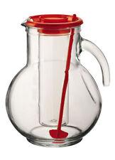 Caraffe e brocche da cucina in vetro rosso