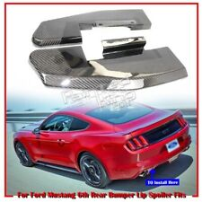 Carbon For Ford Mustang 2D 6th Universal Fitment Rear Bumper Lip Spoiler 2pcs 15
