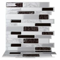 Tic Tac Tiles_3D Peel and Stick Wall Tile in Polito Black & White(10 sheets)