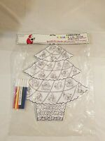 CHRISTMAS COLOR-ME CALENDAR INCLUDES 6 MARKERS NON TOXIC  MERRY CHRISTMAS