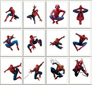 Spiderman Marvel Print Poster Wall Art Childrens Bedroom A3 A4 A5