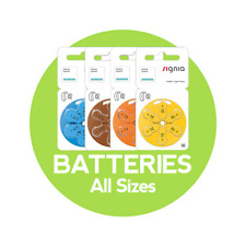 Hearing Aid Batteries - Siemens Brand - All Sizes (6 Cells Per Packet)
