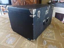pur vintage ancienne malle bertault rigide noir à pied angles métal 49€