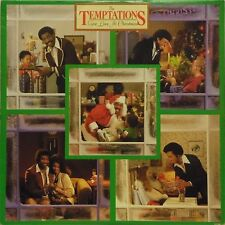 THE TEMPTATIONS 'GIVE LOVE AT CHRISTMAS' US IMPORT LP + 'MOTOWN POP QUIZ' INNER